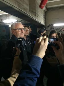 Regisseur Francis Lawrence steht den Journalisten Rede und Antwort © Marc Ulrich